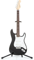 Musical Instruments:Electric Guitars, 1991 Fender USA Stratocaster Plus Black Solid Body Electric Guitar#N1009715...