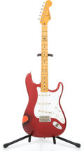 Musical Instruments:Electric Guitars, 1987 Fender '57 Re-issue Stratocaster Candy Apple Red Solid BodyElectric Guitar #V025923...