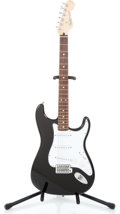Musical Instruments:Electric Guitars, 2000 Fender Stratocaster Black Solid Body Electric Guitar #MZ0022870...