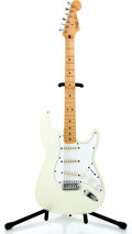 Musical Instruments:Electric Guitars, 1999 Fender Squire Stratocaster White Solid Body Electric Guitar#N915716...