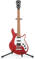 Musical Instruments:Electric Guitars, 1997 Washburn WM200 Cherry Red Transparent Solid Body ElectricGuitar #9711095...