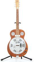 Musical Instruments:Resonator Guitars, Unknown Dobro Electric Mahogany Resonator Guitar #60555...