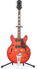 Musical Instruments:Electric Guitars, 1970's Epiphone Semi-Hollow Body Red Electric Guitar #0121558...