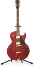 Musical Instruments:Electric Guitars, 2002 Gibson ES-135 Cherry Red Transparent Semi-Hollow Body ElectricGuitar #03292710...