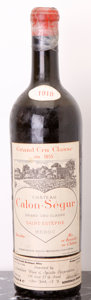 Red Bordeaux, Chateau Calon Segur 1918 . St. Estephe. ms, bsl, tapecovering capsule. Bottle (1). ... (Total: 1 Btl. )