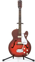 Musical Instruments:Electric Guitars, 1960 Harmony Rocket Cherry Burst Semi-Hollow Body Electric Guitar#5606B56...