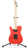 "Musical Instruments:Electric Guitars, 1990's Schecter California Custom ""T"" Red Solid Body Electric Guitar #G0780..."