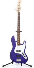 Musical Instruments:Bass Guitars, 1998 Fender Jazz Bass Midnight Blue Electric Bass Guitar #MN8146335...