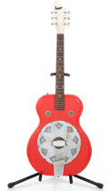 Musical Instruments:Resonator Guitars, 1964 Supro Folk Star/Vagabond Red Resonator Guitar #G23114...