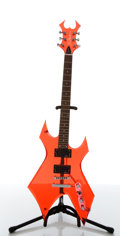 Musical Instruments:Electric Guitars, B.C. Rich Warlock Red Lucite Solid Body Electric Guitar #F902972...