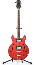 Musical Instruments:Electric Guitars, 1970's Epiphone EA-260 Red Electric Bass Guitar #N/A...