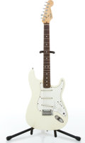 Musical Instruments:Electric Guitars, 1991 Fender USA Stratocaster White Solid Body Electric Guitar#N1024722...