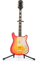 Musical Instruments:Electric Guitars, 1970's Epiphone Coronet Cherryburst Solid Body Electric Guitar#N/A...