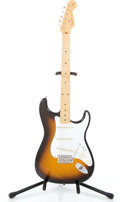 Musical Instruments:Electric Guitars, 2005 Fender Stratocaster Sunburst Solid Body Electric Guitar#MZ5209437...