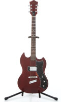 Musical Instruments:Electric Guitars, 1975 Guild S-50 Cherry Solid Body Electric Guitar #149838...
