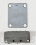 Musical Instruments:Miscellaneous, 1958 Fender Musicmaster Neck Plate and Tail Piece Chrome #28824...(Total: 2 Items)