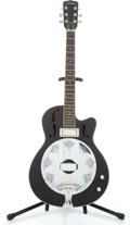 Musical Instruments:Resonator Guitars, 2000s Johnson Electric Resonator Flat Black Guitar...