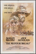 "Movie Posters:Western, The Missouri Breaks (United Artists, 1976). One Sheet (27"" X 41""). Western.. ..."