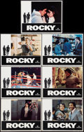"Movie Posters:Academy Award Winners, Rocky (United Artists, 1977). Lobby Cards (7) (11"" X 14""). Academy Award Winners.. ... (Total: 7 Items)"