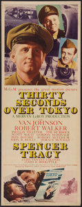"""Movie Posters:War, Thirty Seconds Over Tokyo (MGM, 1944). Insert (14"""" X 36""""). War....."""