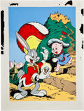 Original Comic Art:Covers, C. C. Beck Four Color #123 Bugs Bunny and Porky Pig CoverRe-Creation Original Art (1980)....