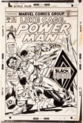 Original Comic Art:Covers, Gil Kane and Dan Adkins Power Man #24 Cover Original Art(Marvel, 1975)....
