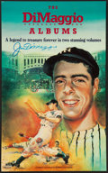 Baseball Collectibles:Others, Joe DiMaggio Signed Advertising Broadside....