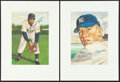 "Baseball Collectibles:Others, 1953 Topps Mickey Mantle and Willie Mays Signed ""Marriott"" Prints...."