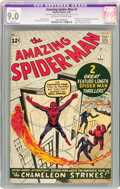 Silver Age (1956-1969):Superhero, The Amazing Spider-Man #1 (Marvel, 1963) CGC Apparent VF/NM 9.0Slight (P) Off-white to white pages....