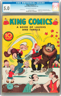King Comics #1 (David McKay Publications, 1936) CGC VG/FN 5.0 Off-white to white pages