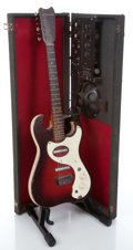 Musical Instruments:Electric Guitars, 1964 Silvertone 1457 Amp- in- Case Red burst Semi-Hollow BodyElectric Guitar ...