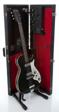 Musical Instruments:Electric Guitars, 1965 Silvertone 1457 Amp-in-case Black Semi-Hollow Body ElectricGuitar #N/A...