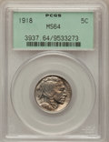 Buffalo Nickels: , 1918 5C MS64 PCGS. PCGS Population (358/229). NGC Census: (214/76).Mintage: 32,086,314. Numismedia Wsl. Price for problem ...