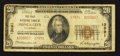 National Bank Notes:Oklahoma, Ponca City, OK - $20 1929 Ty. 2 The First NB Ch. # 13891. ...