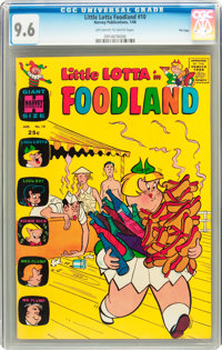 Little Lotta Foodland #10 File Copy (Harvey, 1966) CGC NM+ 9.6 Off-white to white pages