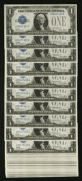 Small Size:Silver Certificates, Fr. 1601 $1 1928A Silver Certificates. Thirty-two Consecutive Examples. Choice Crisp Uncirculated or Better.. ... (Total: 32 notes)