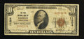 National Bank Notes:Pennsylvania, Timblin, PA - $10 1929 Ty. 1 The First NB Ch. # 11204. ...