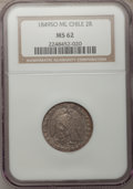 Chile, Chile: Republic 2 Reales 1849-ML,...
