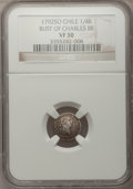 Chile, Chile: Carlos IV 1/4 Real 1792, ...