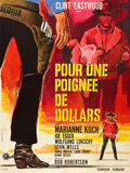 "Movie Posters:Western, A Fistful of Dollars (PEA, 1965). French Grande (47"" X 63"").. ..."