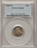 Barber Dimes: , 1909-D 10C MS62 PCGS. PCGS Population (12/52). NGC Census: (6/51).Mintage: 954,000. Numismedia Wsl. Price for problem free...