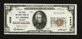 National Bank Notes:Missouri, Saint Joseph, MO - $20 1929 Ty. 1 The First NB Ch. # 4939. ...