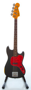 Musical Instruments:Electric Guitars, 1977 Fender Musicmaster Bass Black Electric Bass Guitar #s722789...