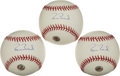 Baseball Collectibles:Balls, Barry Bonds Single Signed Baseballs Lot of 3....