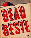 "Movie Posters:Adventure, Beau Geste (Paramount, 1939). Uncut Pressbook (12"" X 15"", 24Pages).. ..."