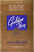 "Movie Posters:Drama, Golden Boy (Columbia, 1939). Pressbook (13"" X 19"", 32 Pages).. ..."