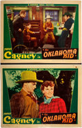 "Movie Posters:Western, The Oklahoma Kid (Warner Brothers, 1939). Lobby Cards (2) (11"" X14"").. ... (Total: 2 Items)"