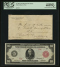 Large Size:Federal Reserve Notes, Fr. 897a $10 1914 Red Seal Federal Reserve Note PCGS Extremely Fine40PPQ.. ...