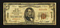 National Bank Notes:Oklahoma, Commerce, OK - $5 1929 Ty. 1 The First NB Ch. # 10689. ...