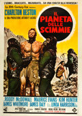 "Movie Posters:Science Fiction, Planet of the Apes (20th Century Fox, 1968). Italian 4 - Foglio(55"" X 78"").. ..."